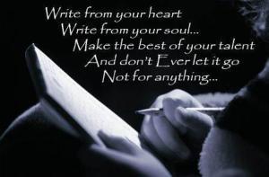 writers gotta write 1