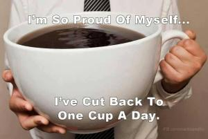 large cup of coffee